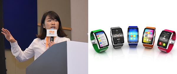 钟晴(左), 智能手表销量下跌