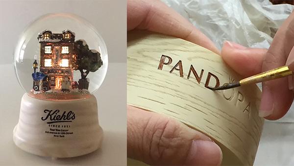 Kiehl's木制水晶球(左图),PANDORA音乐首饰盒礼品(右图)