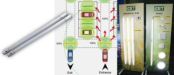 无线灯管内置动态感应器和2.4G无线收发器