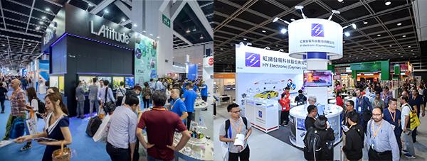 """""""品牌荟萃廊""""(左图); 国际电子组件及生产技术展(右图)"""