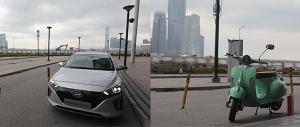 Hyundai IONIQ (左图); emco e-scooter双轮电动车(右图)