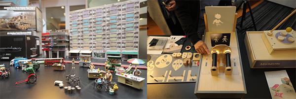 (左图)微型街景模型; (右图)光学实验游戏盒