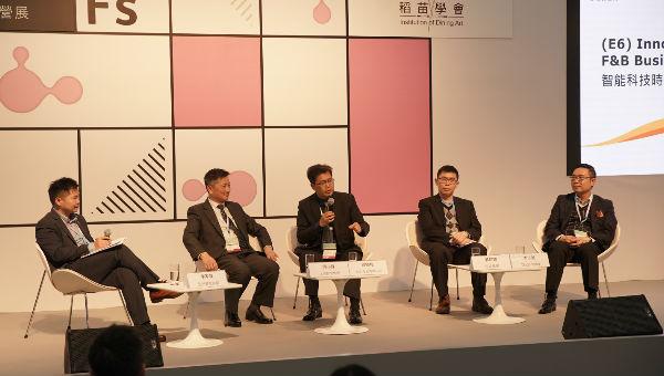 由左至右: 李家声、何小锋、缪晓格、郭铭辉、李志诚
