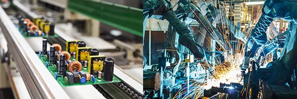 (左图)电子产品业(右图)机械业