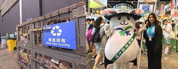 (左图)废物分类回收箱(右图)会展小伙伴
