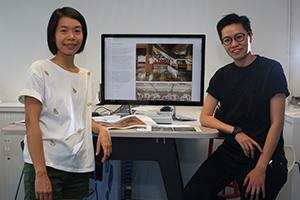 (右)李泇定(左)刘宛姗