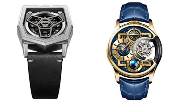 (右图)丹玛迪维亚系列腕表(左图)万希泉尊爵版星恒系列手表