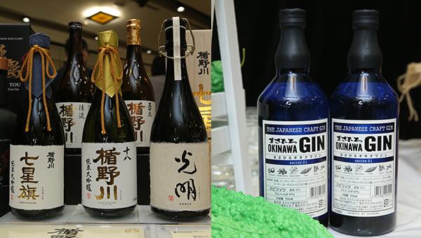(左图)楯野川纯米大吟酿(右图)手工精酿毡酒