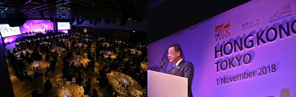(左)香港晚宴(右)吉川贵盛