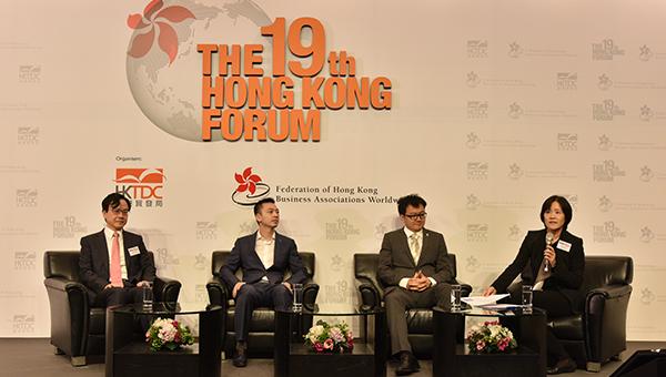 (左起)卢煜明、杨圣武、温豪夫以及朱雅仪