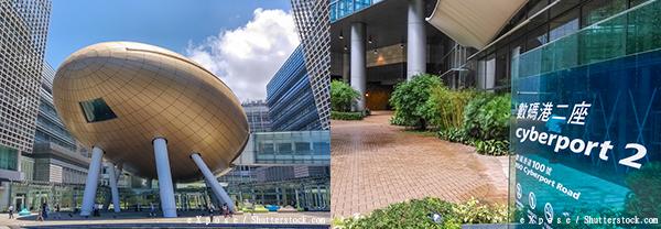 (左图)香港科学园(右图)香港数码港
