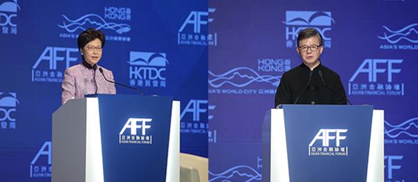 (左图)林郑月娥(右图)罗康瑞