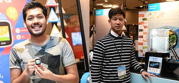 (左图)4G人工智能语音助理儿童手表(右图)纳米气泡消毒滤水器