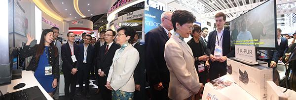 林郑月娥参观国际资讯科技博览