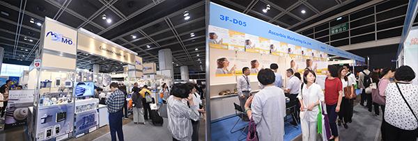 (左图)香港医疗及保健器材行业协会展馆(右图)日本展馆
