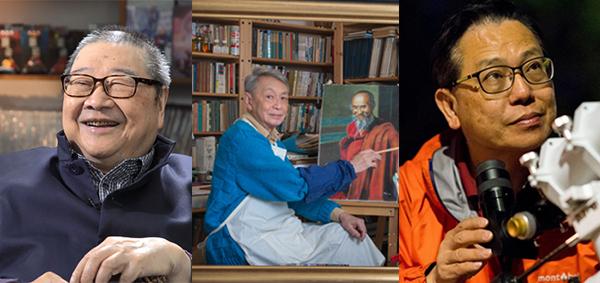 (左起)倪匡、杜渐、李伟才