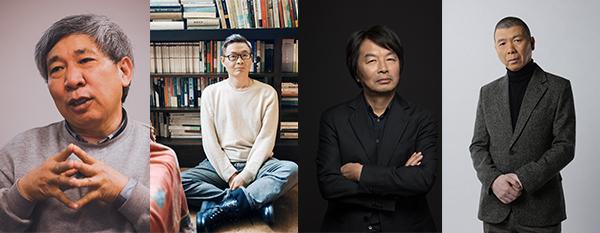 (左起)阎连科、麦家、刘震云和冯小刚