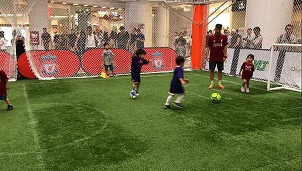 小童二对二足球赛