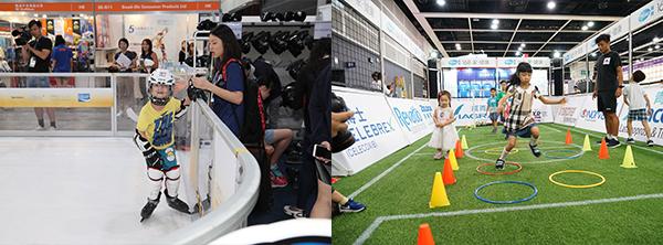 (左图)香港冰球训练学校仿真冰地(右图)辉瑞药厂小型足球场