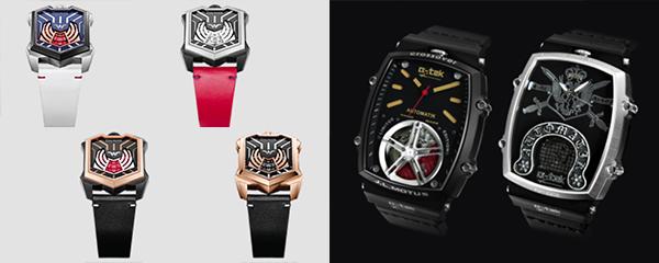 (左图)DAUMIER《正义联盟》神奇女侠腕表系列(右图)a'-tek手表Scrollen