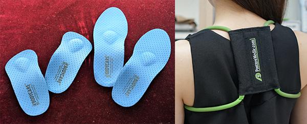 (左图)医学矫正肩颈姿势带(右图)矫型鞋垫