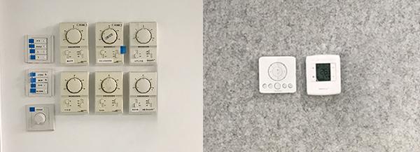 传统开关(左)SwitchMap智能系统(右)