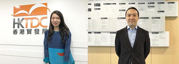 (左图)香港贸易发展局华南首席代表吴文慧(右图)香港中小型企业联合会会长郭振邦
