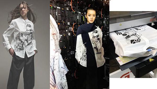 V VISSI与GTX Brother Garment Printer合作推出自订印花恤衫系列