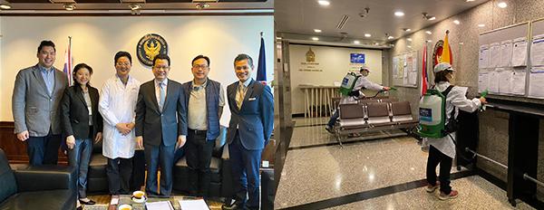 泰国驻港总领事李志强(左图右三)