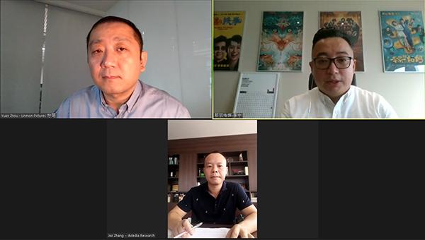 (下)张毅、(右上)李宁、(左上)周元