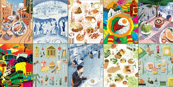 五位香港插画家勾画的湾仔味道