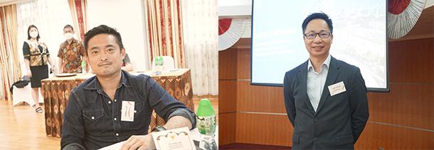 左起:林忠澤,鄭小龍
