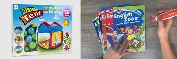 (左图)立盈玩具厂儿童帐篷(右图)Dimdu点读笔