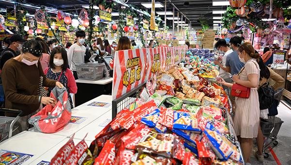 超级市场货品销货