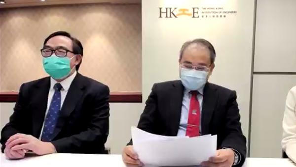 卢伟国议员(左)源柏梁教授工程师(右)