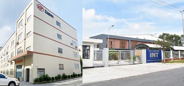 盛德乐在惠州自设厂房(左图)、越南代工生产工厂(右图)