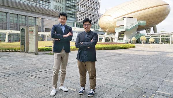 田学维(左)王𤨢燊(右)