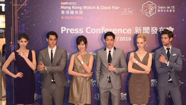 著名藝人劉佩玥(左三)及多位模特兒