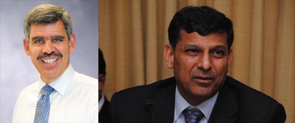 (左)埃利安Mohamed A El-Erian及(右)拉詹Raghuram Rajan