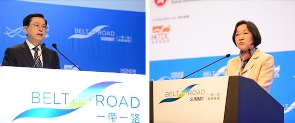 (左圖)張德江, (右圖)金琦