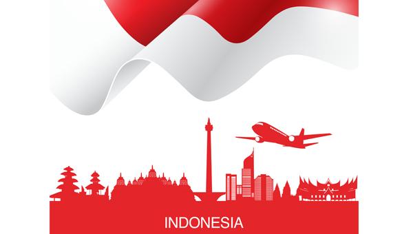 印尼轮廓图手绘地图