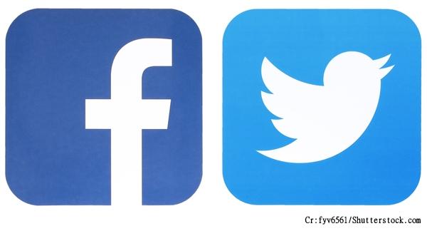 Facebook及Twitter