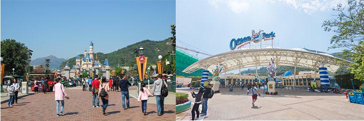 香港迪士尼樂園及海洋公園