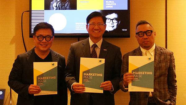 香港貿易發展局副總裁葉澤恩(中), McCann & Spencer主席及執行創作總監黃光銳(左)及李永銓設計廔創作總監李永銓(右)