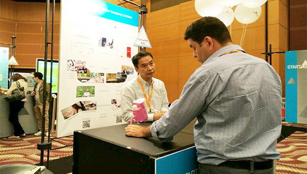 陳家潤(左) & 香港秋季電子產品展