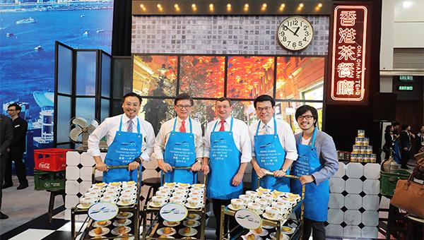 會場內的「香港茶餐廳」