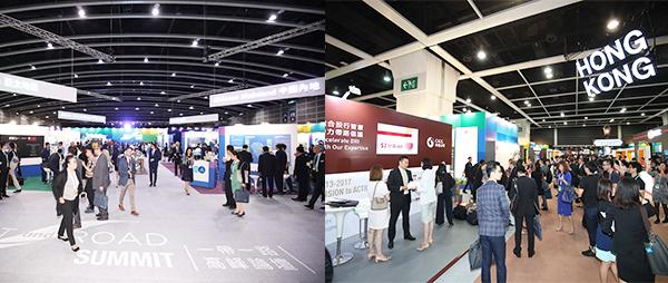 「全球投資機遇專區」(左圖), 「香港專區」(右圖)