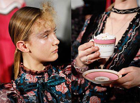 模特兒的造型和英式下午茶