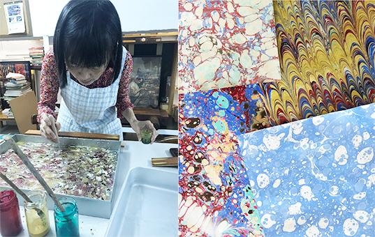 染製書籍裝飾紙示範活動