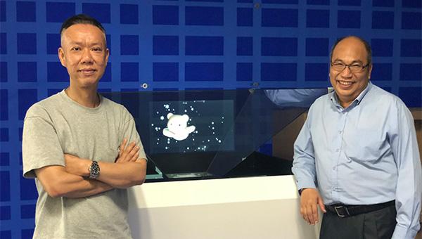 右: 姜月輝, 左: 羅永強